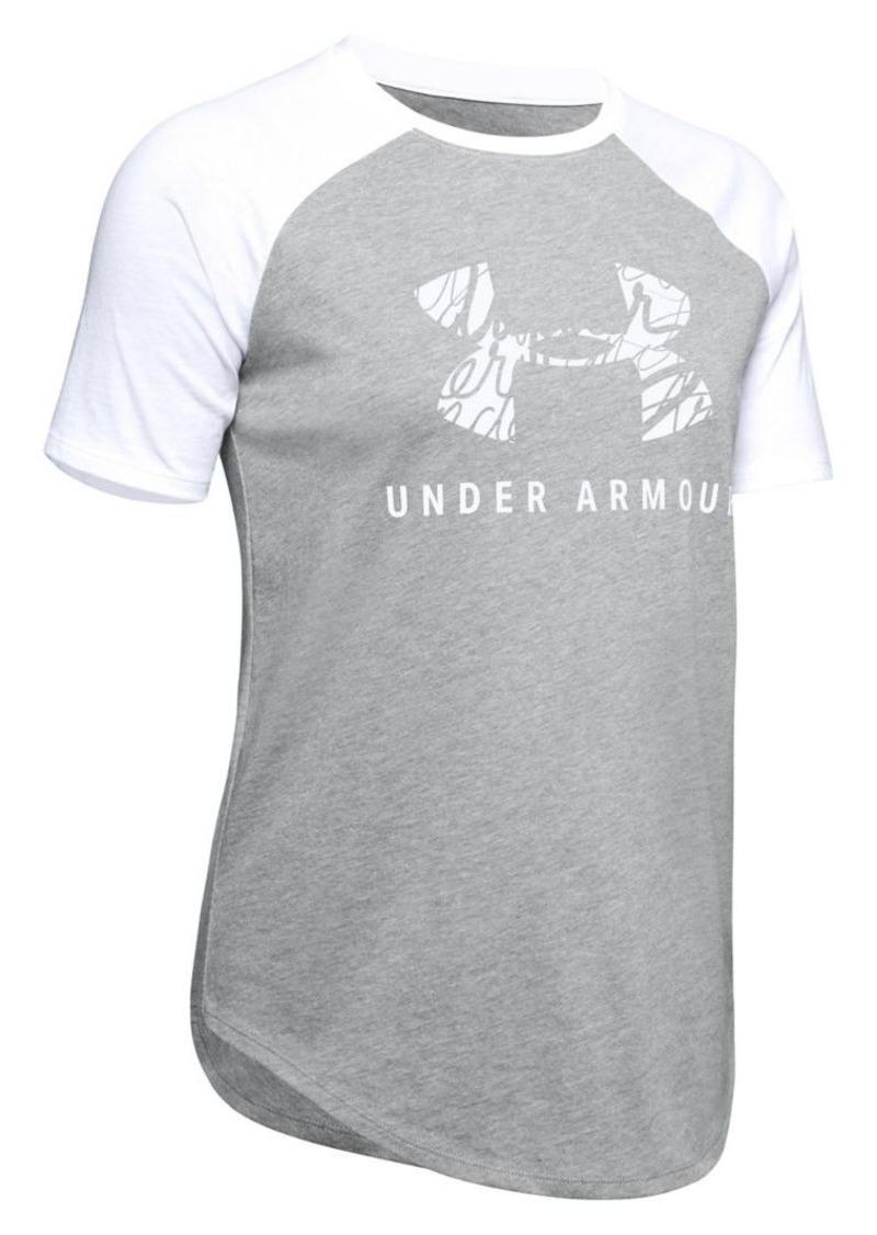 Under Armour Raglan-Sleeve Cotton Blend Tee