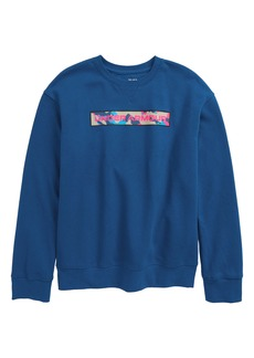 Under Armour Rival Fleece Amp Crewneck Sweatshirt (Big Boy)
