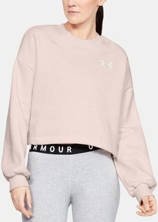 Under Armour Women's Rival Fleece Cropped Sweatshirt