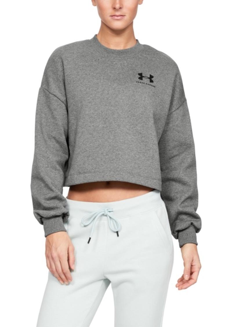 Under Armour Women's Rival Fleece Cropped Sweatshirt