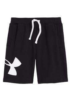 Under Armour Rival Fleece Logo Shorts (Big Boy)