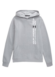 Under Armour Rival Wordmark Pullover Hoodie (Big Boys)