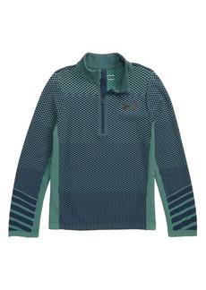 Under Armour Seamless HeatGear® Quarter Zip Pullover (Big Boys)