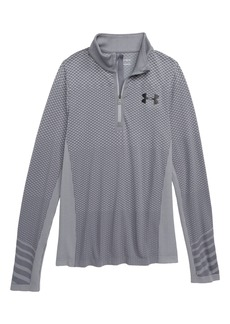 Under Armour Seamless HeatGear® Quarter Zip Pullover (Big Boys)