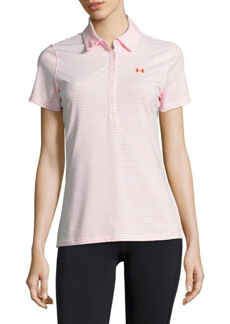 Under armour under armour short sleeved striped polo top for Ua shirts on sale