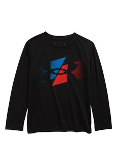 Under Armour Slashed Symbol Long Sleeve Graphic Tee (Toddler & Little Boy)