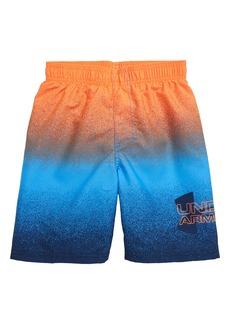 Under Armour Spray Logo Volley Shorts (Little Boy)