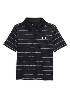 Under Armour Stripe Wordmark HeatGear® Performance Polo (Little Boy)