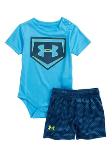 Under Armour Sync Home Plate Logo Bodysuit & Shorts Set (Baby Boys)