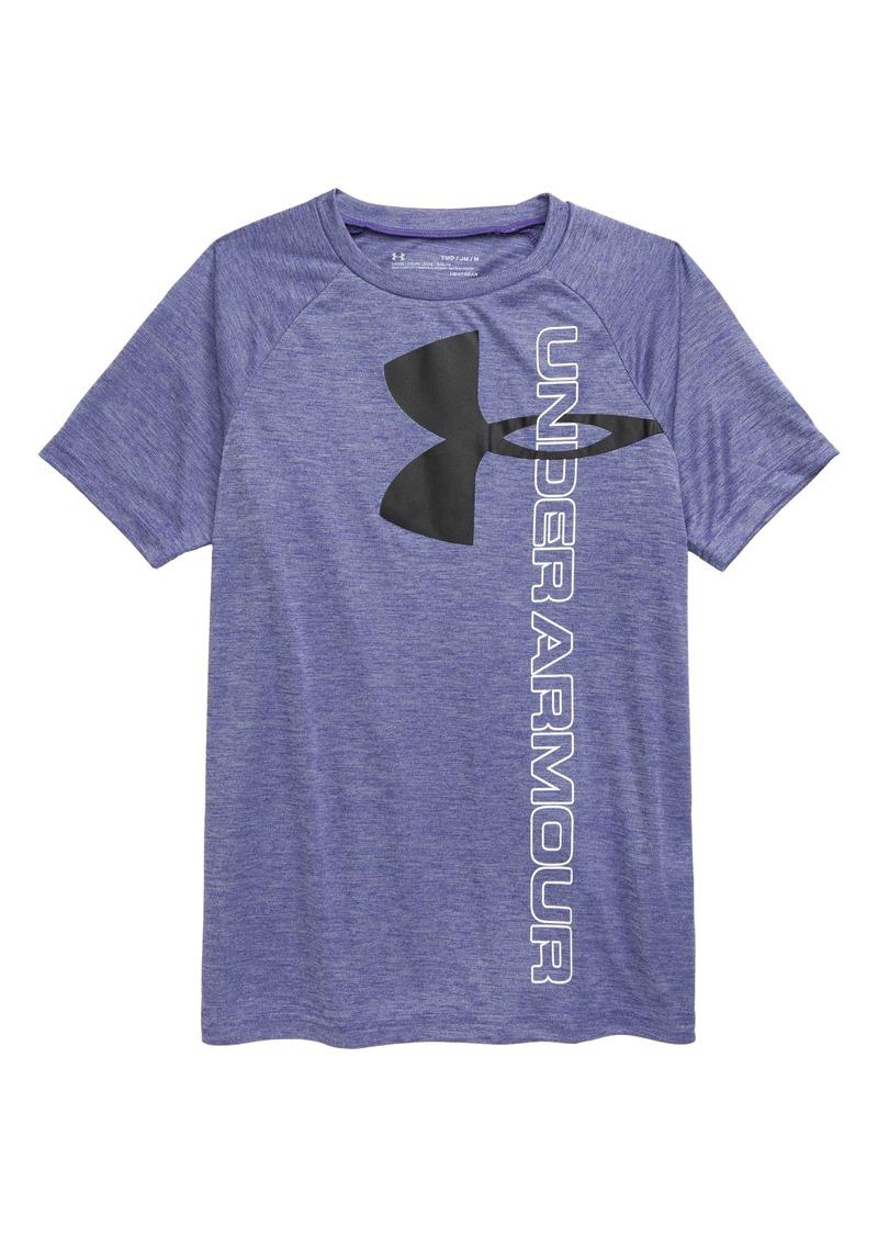 Under Armour Tech™ Split Logo Hybrid T-Shirt (Big Boy)