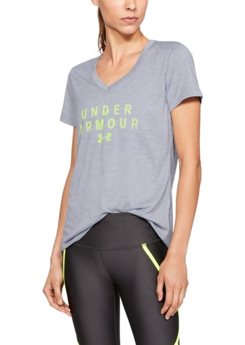 Under Armour Tech Twist Graphic V-Neck Short Sleeve