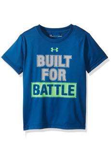 Under Armour Boys' Toddler Built for Battle Short Sleeve T-Shirt Moroccan Blue