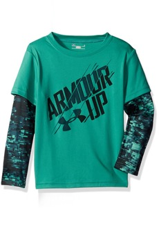 Under Armour Toddler Boys' Slider Long Sleeve Shirt geode Green