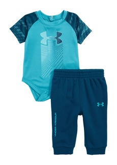Under Armour Trave Rising Logo Bodysuit & Sweatpants Set (Baby Boys)