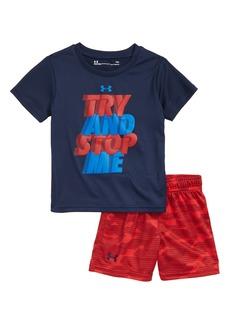 Under armour Try & Stop Me HeatGear® T-Shirt & Shorts Set (Baby Boys)