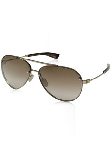 Under Armour UA Double Down Aviator Sunglasses Gold/Brown Lens