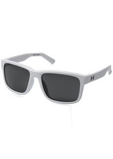 Under Armour UA Rookie Square Sunglasses UA Rookie Shiny White Frame / Gray Lens