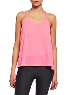 Under Armour Whisperlight Fold-Over Racerback Tank  Pink