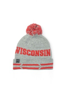 Under Armour Wisconsin Badgers Athletic Pom Knit Hat