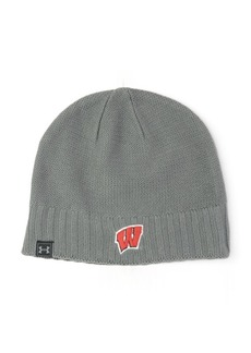 Under Armour Wisconsin Badgers Textured Fitted Beanie