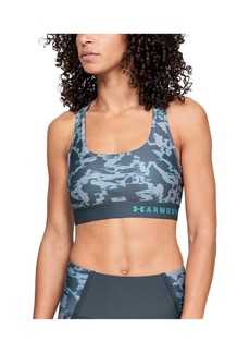 Under Armour Women's Armour Mid Crossback Print Sports Bra