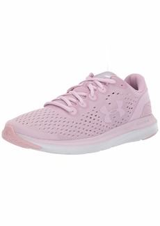 Under Armour Women's Charged Impulse Running Shoe Pink Fog (01)/Halo Gray