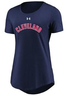 Under Armour Women's Cleveland Indians Team Font Scoop T-Shirt