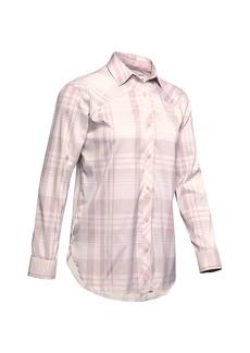 Under Armour Women's High Tide Plaid LS Shirt