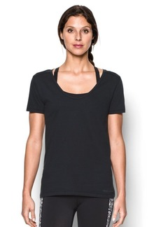Under Armour Women's Microthread Scoop V-Neck
