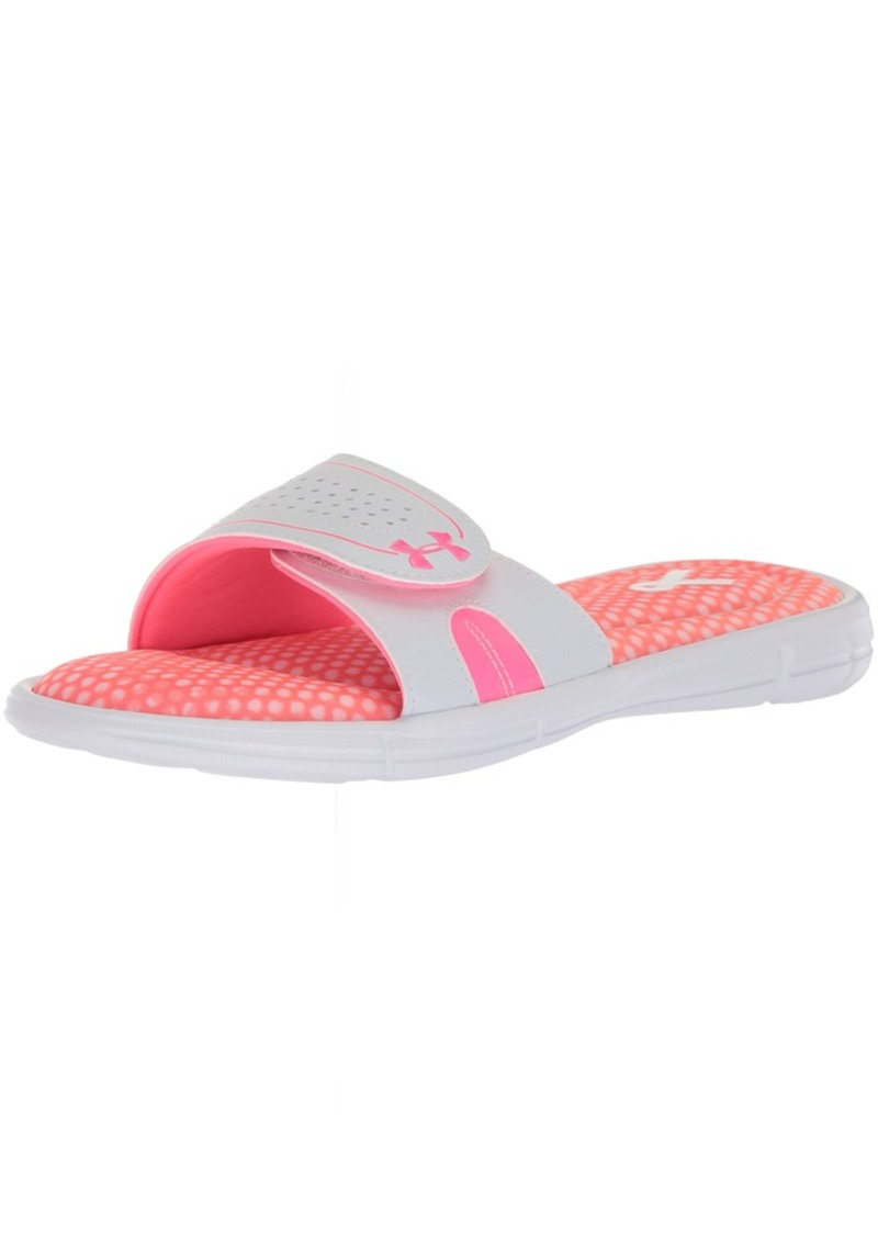 reputable site f3608 e440e Under Armour Women s Power in Pink Ignite VIII Slide Sandal 12