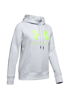 Under Armour Women's Rival Fleece Sportstyle LC Sleeve Graphic Hoodie