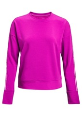 Under Armour Women's Rival Terry Taped Crewneck Top