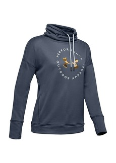 Under Armour Women's Terry Graphic Funnel Neck Hoodie