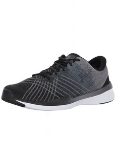 Under Armour Women's Threadborne Push Sneaker Black (001)/Steel
