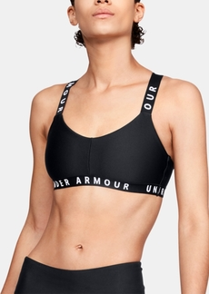 Under Armour Women's Wordmark Cross-Back Low-Impact Sports Bra