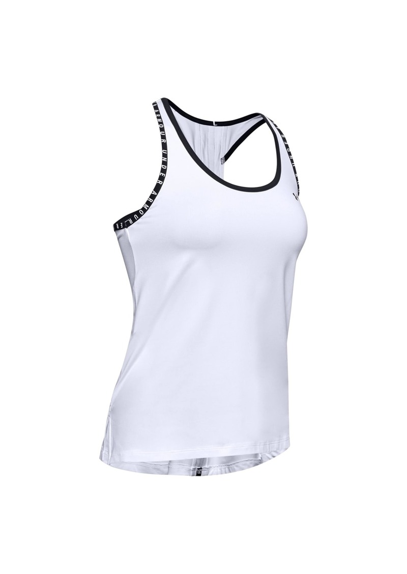 Under Armour Womens/Ladies Knockout Tank Top (White/Black) - L - Also in: XL, XS, M, S