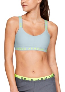 Under Armour Wordmark Cross-Back Low-Impact Sports Bra