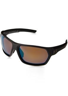 Under Armour Wrap Sunglasses UA Shock Storm (ANSI) Matte Black Frame/Shoreline Tuned Polar Lens L
