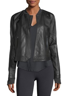 Under Armour x Misty Copeland Zip-Front Leather Jacket