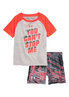 Under Armour You Can't Stop Me HeatGear® Shirt & Shorts Set (Baby Boys)