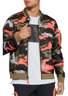Under Armour Unstoppable Camo Print Bomber Jacket