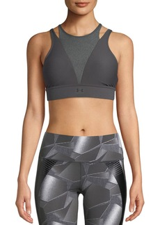 Under Armour Vanish Mid-Impact High-Neck Metallic Sports Bra