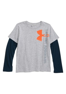 Under Armour Vertical Logo Layered T-Shirt (Toddler Boys & Little Boys)