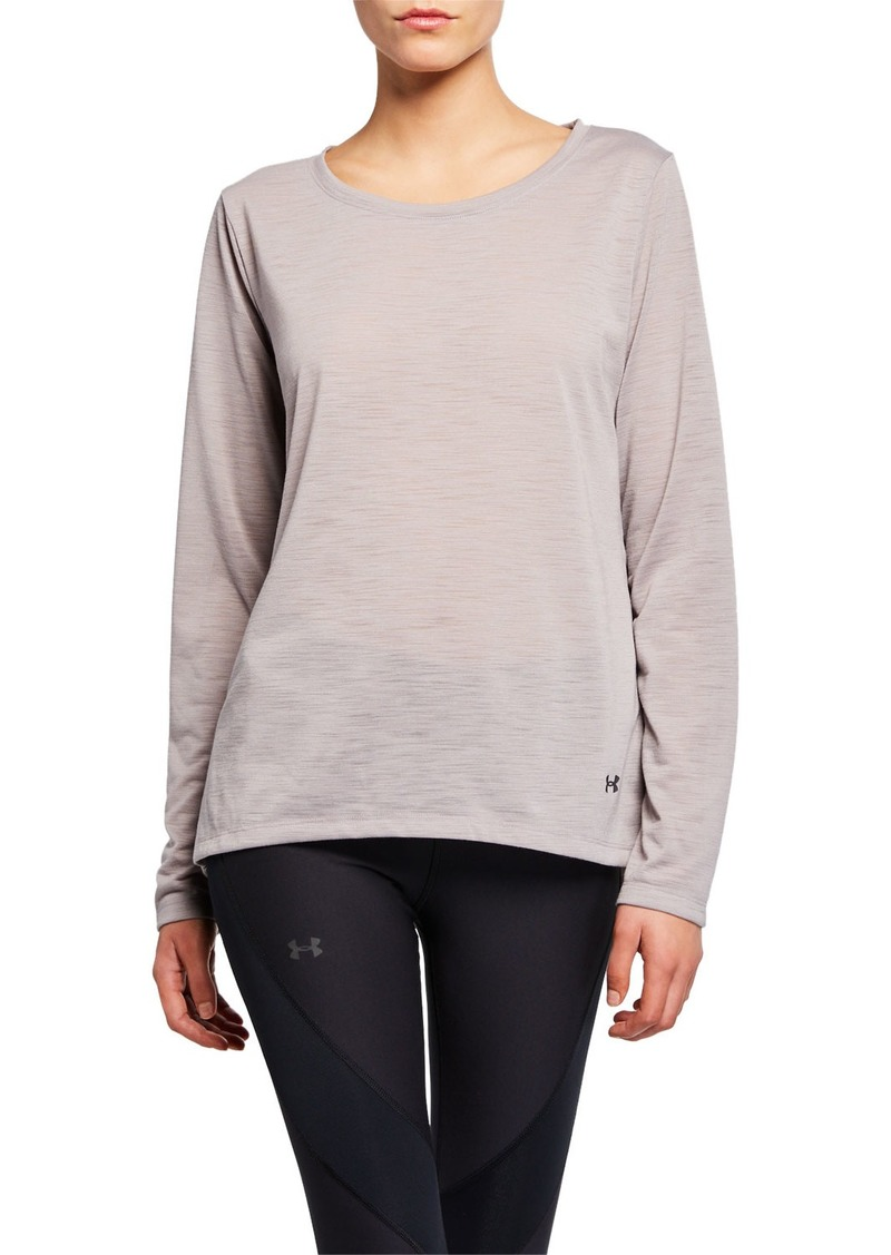 Under Armour Whisperlight Long-Sleeve Open-Back Performance Top