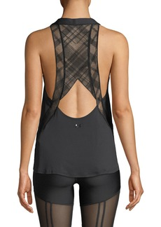 Under Armour x Misty Copeland Embroidered Scoop-Neck Activewear Tank