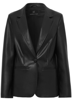 Unreal Fur Bell faux leather blazer