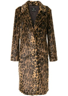 Unreal Fur leopard-print coat