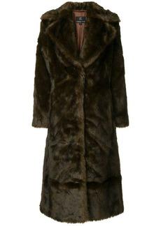 Unreal Fur Long Mac coat