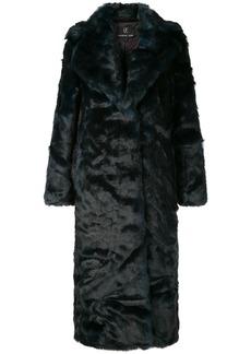 Unreal Fur oversized textured coat
