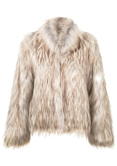 Unreal Fur textured fitted jacket